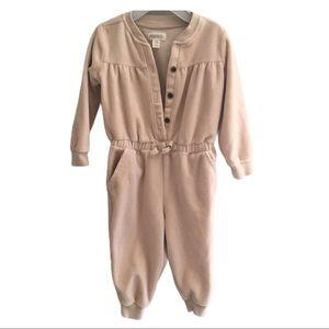 GYMBOREE 12-18mon Tan Soft Button Jumpsuit